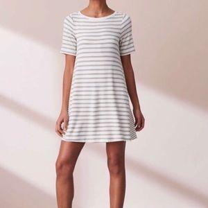 Lou & Grey Striped Signature Soft Tee Dress Size S